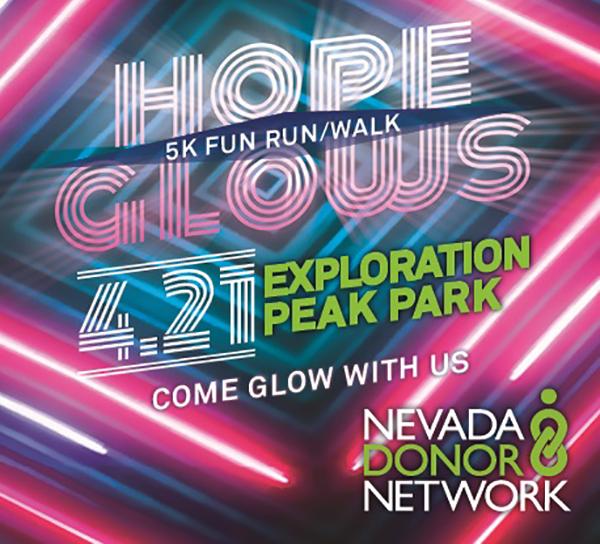 LAS VEGAS, NV  - Nevada Donor Network Hope Glows 5K - 4/22/18