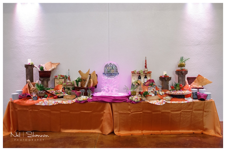 2015 Tampa Bay NACE Meeting Wedding Reception Buffet by Amici's Catering | Rustic, Elegant Sarasota Wedding Venue | Bakers Ranch