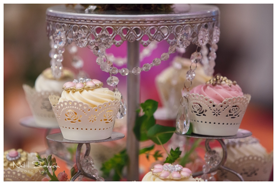 Cupcake Wedding Centerpieces by The Cake Zone | Rustic, Elegant Sarasota Wedding Venue | Bakers Ranch