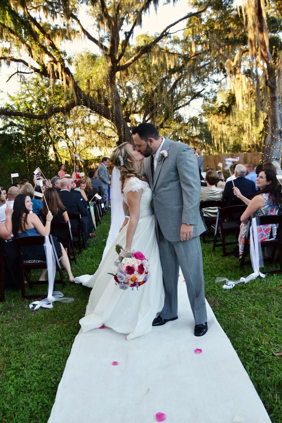 Rustic, Romantic Outdoor Wedding Ceremony at Sarasota Wedding Venue Bakers Ranch