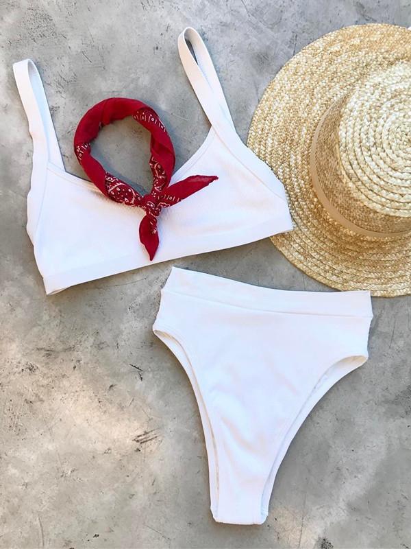 bcb7547ebfd26 Sea Breeze High Waist Two-Piece Bikini — New Islanders