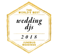 the world's best wedding djs 2018 awarded by junebug weddings to benjamin t warner dj & musician