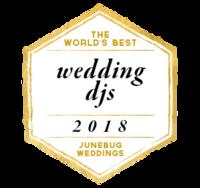 the world's best wedding djs 2018 awarded by junebug weddings to benjamin t warner dj & musician
