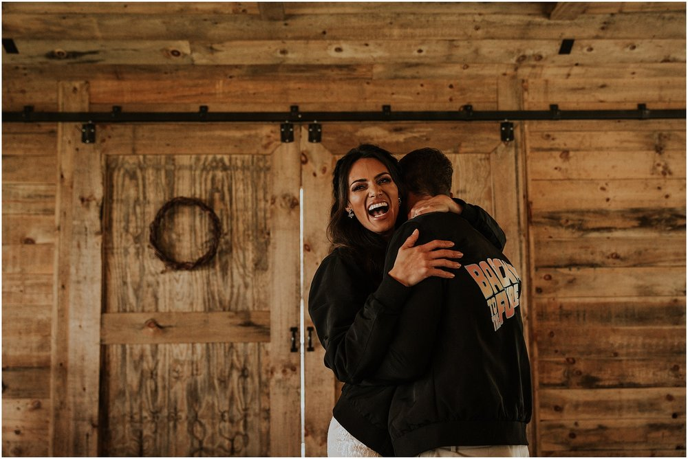 First Dance at Beautiful Bohemian Wedding at Cabin Ridge in Asheville, North Carolina
