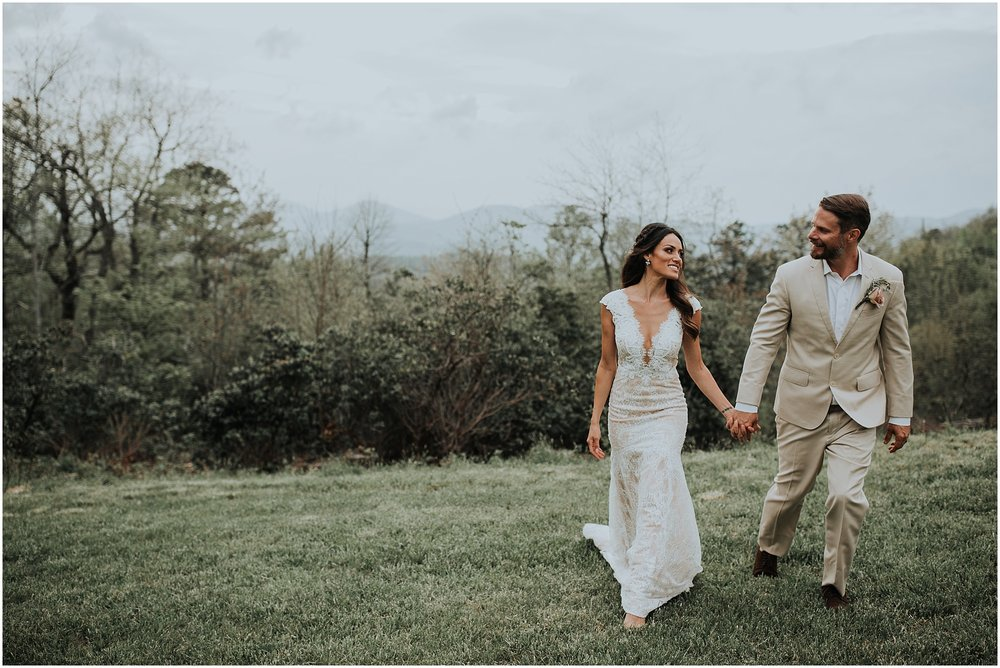 a breathtaking mountain top wedding with Sue and brian at cabin ridge in asheville, north carolina, captured by Gabrielle Von Heyking