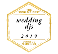 The world's best wedding djs 2019 awarded to benjamin t warner dj & Musician from Junebug weddings