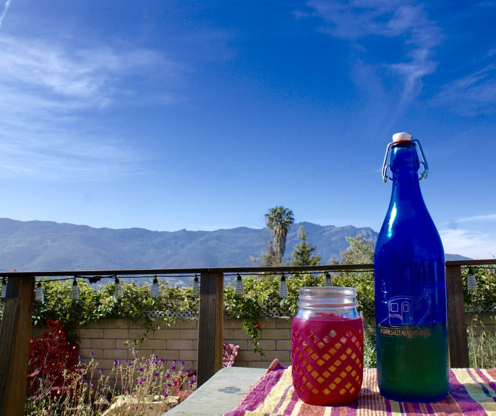 Who doesn't love kombucha with a view?