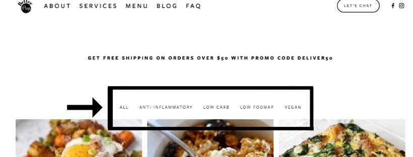 better prep menu categories meal prep calgary