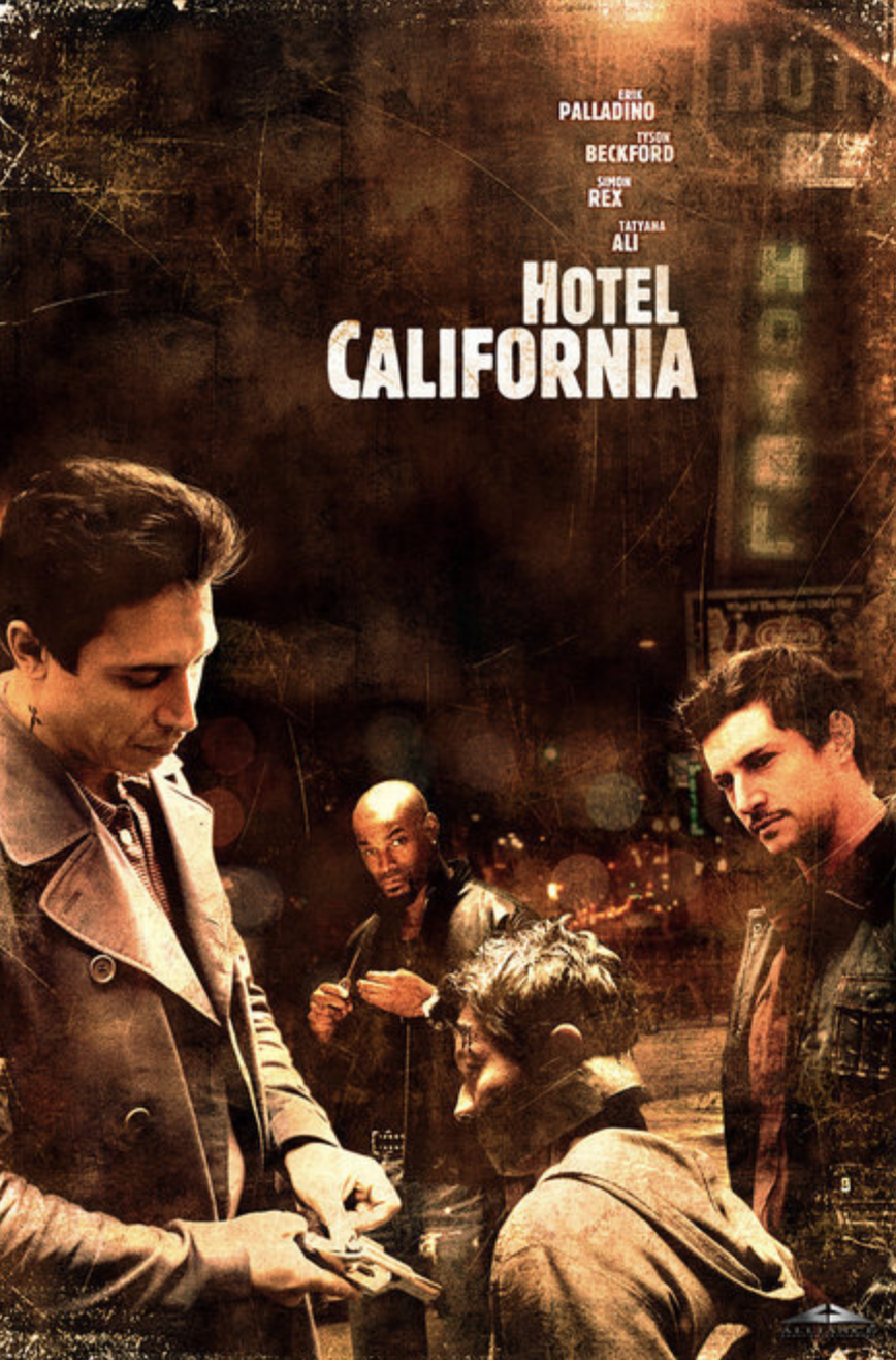 Revenge comes full circle in Hotel California when three former partners with strong connections to the underground crime scene of L.A., reunite in a dingy hotel room to rehash the past.