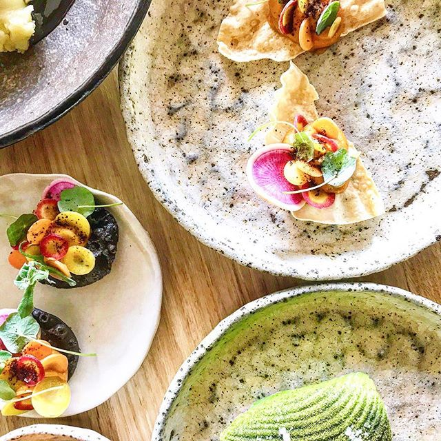 Learning Tasty Entrees @paperbarkrestaurant ~ Pumpkin Tostadas| Celeriac Avocado