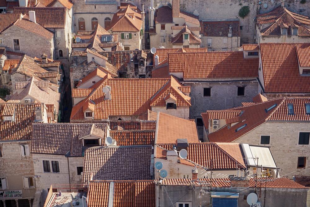 Tiled roofs in Split