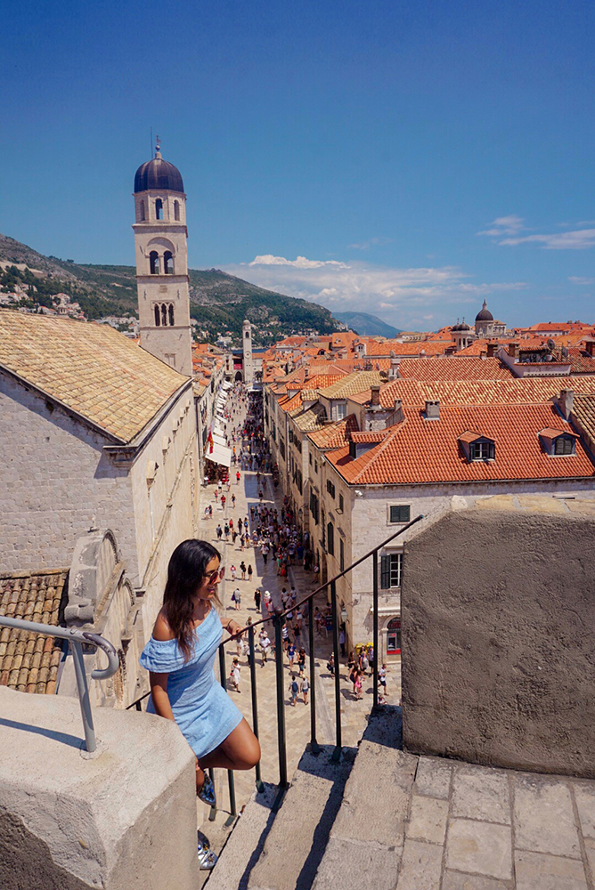 View from the city walls in Dubrovnik