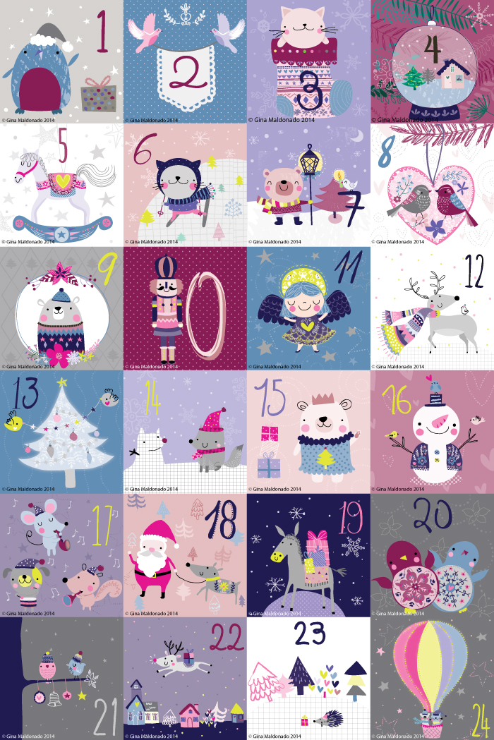 Coco Gigi Design - Christmas advent calendar 2014