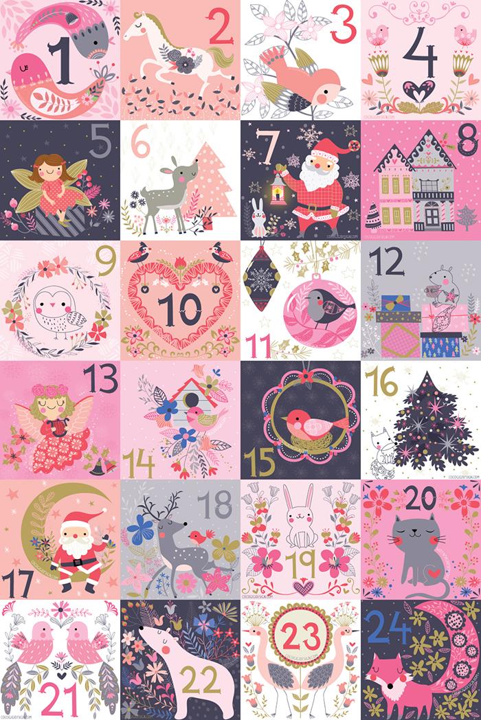 Coco Gigi Design - Christmas Advent Calendar 2015