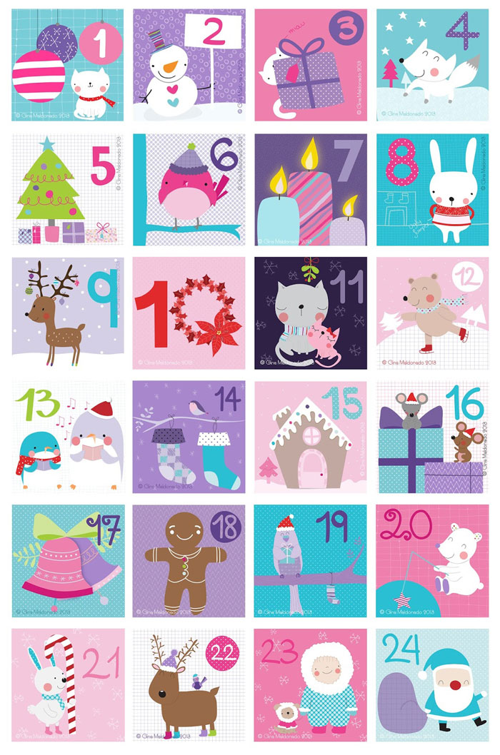 Coco Gigi Design - Christmas advent calendar 2013