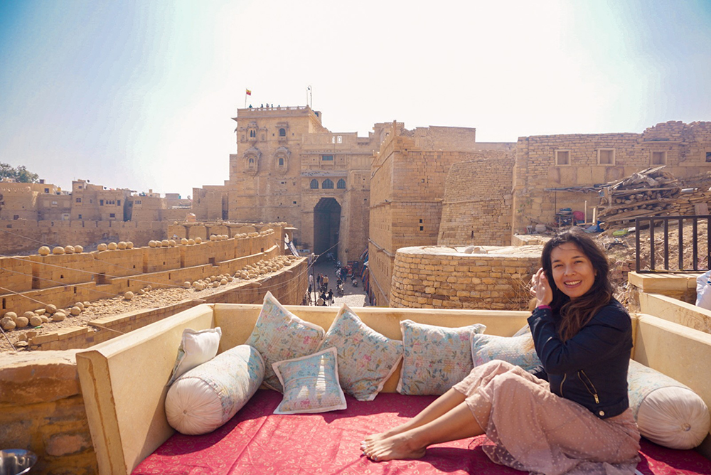 View from roof top cafe in Jaisalmer Fort