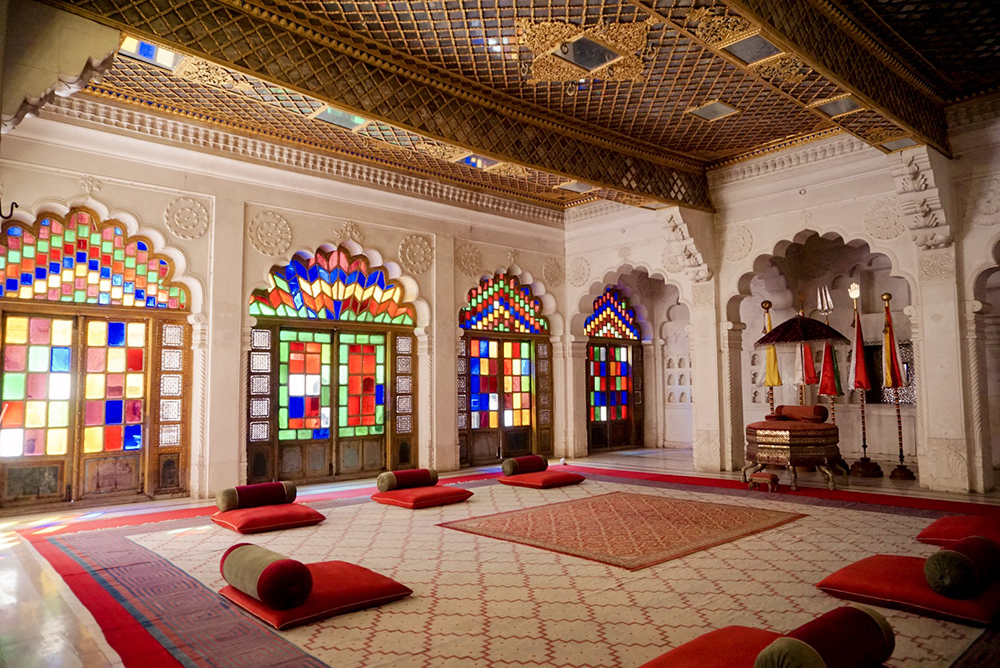 Colourful room at Mehran Fort Museum