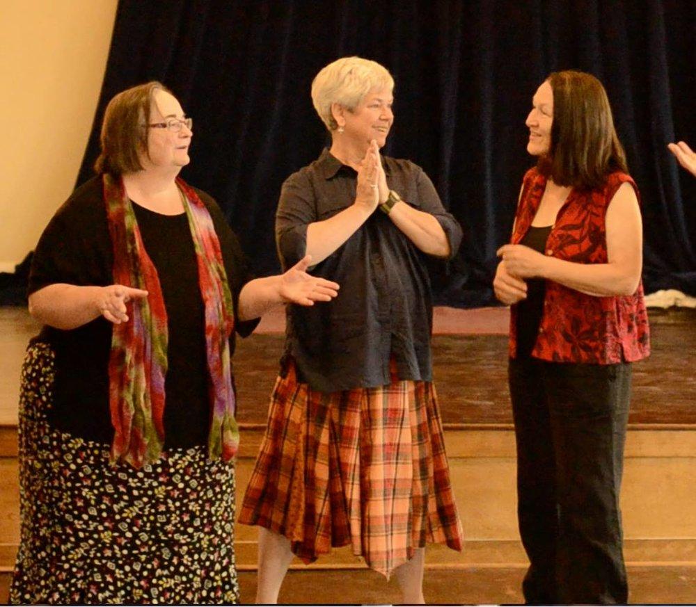 Marline improvising with Liz Kohlenberg & Chris Hille.
