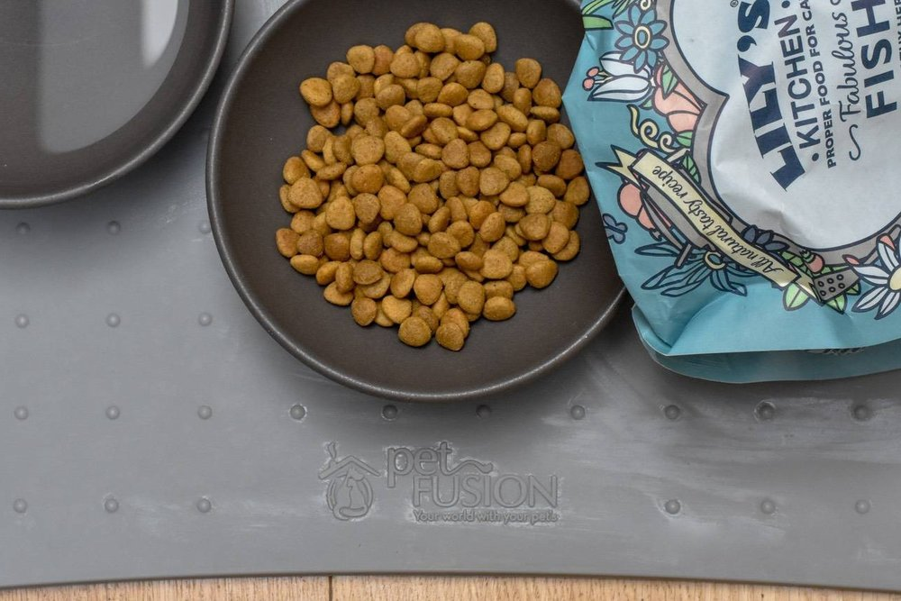 dry food - A plastic free option will come down to what/how your fury friend eats and what you're happy to spend.There are easy-to-find cat/dog biscuits in boxes, but if you want a 'complete' dry food, the only one I have found is Lily's Kitchen.Our cats love it, it's ticks all the ethical boxes and the packaging is home compostable.But the price is eye-wateringly expensive! As in, more than twice the price per 100g than anything else. We're saving money on other things, so for us, it balances out. But, ouch.