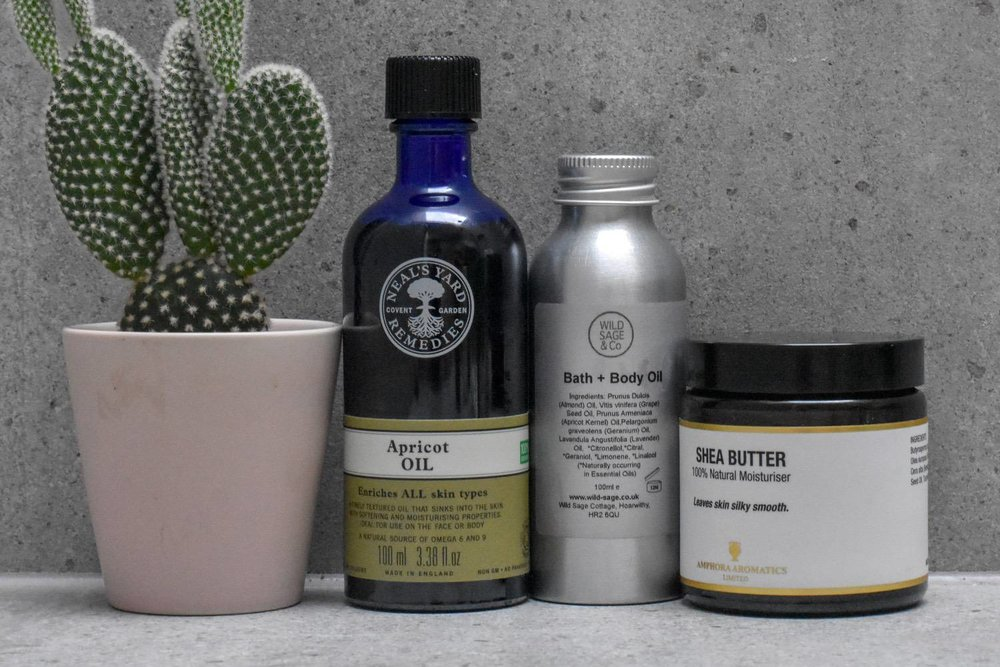 BODY LOTION - Similar to where I've landed on facial moisturisers, it's all about the plant oils for me now.What works, will, of course, depend on your skin type. I'm no expert, so here's a good guide to different oils/butters and how to use them. Typically these are easy to find in health-food shops.There are lots of pre-made things to try too. Everything by Evolve is lovely. Same goes for Wild Sage & Co. And clever old-Lush have naked body moisturisers (of course they do!)