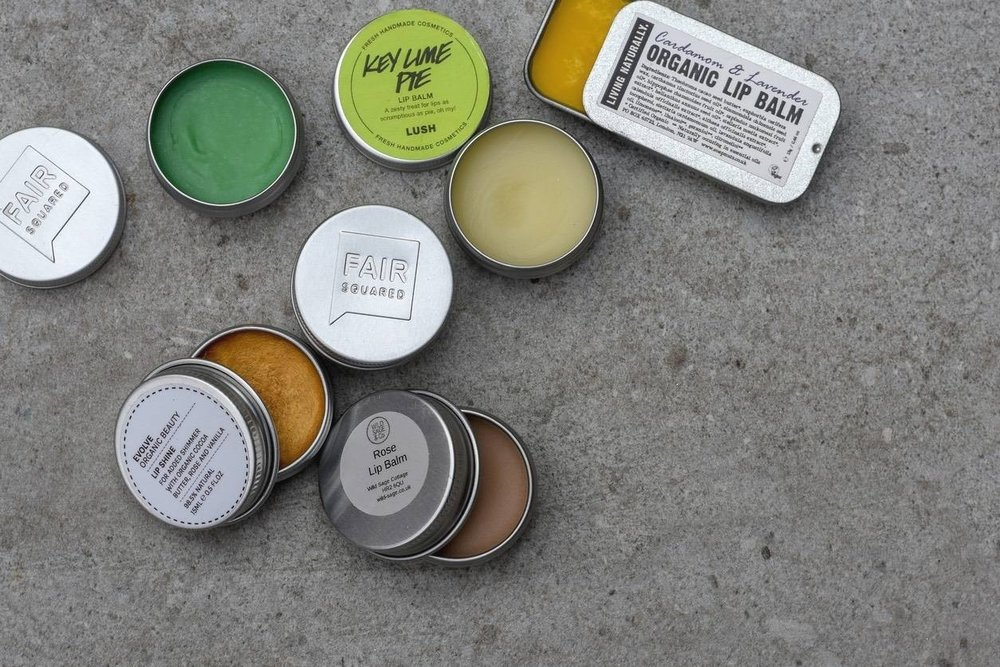 lip balms - I wondered if you can get actually be addicted to lip-balm. Apparently not, but it's a close call for me. Good thing there are lots of easy-to-find options in little glass pots or stainless steel tins.I've even started making my own - it's really easy. So the few pots I have (that are on a constant cycle of being lost and found) can stay in my at-home zero-waste lip-balm factory.If you're buying, give those blue tins a swerve if you can. Vaseline, AKA petroleum jelly, is, well, petrol. Try this (Fair Squared) or this (Wild Sage) or this (Evolve Beauty) instead.Save the empty tins to take on holiday. They make perfect travel-sized pots for skincare products.