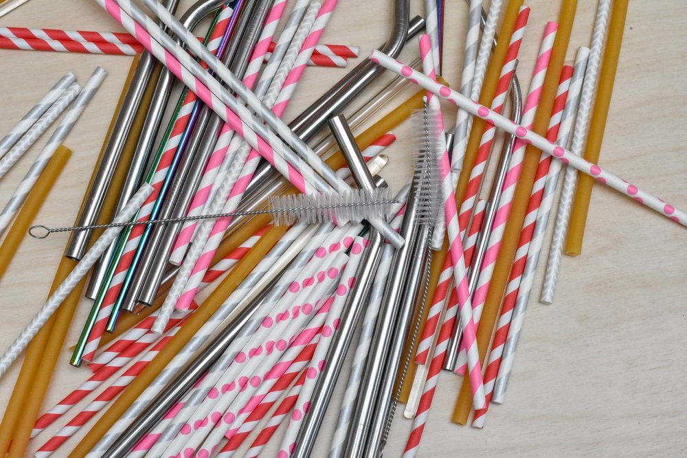 STRAWS - Given the Trash Plastic logo is a straw, and given the iconic status of straws as the demon of the ocean plastic problem, it would be weird not to mention them somewhere on Trash Plastic.There is good news. In October 2018 The European Parliament voted to ban straws (and other single use items like cutlery) by 2021. Until then, we could just say no, no? But, if you have kiddos (my excuse) here are a few to try:Stainless-steel straws, in two sizes (thin ones for normal drinks, thick ones for smoothies). I like these.Paper straws, which I keep for when I'm dealing with a house-full of additional small humans (AKA play-dates).Stroodles! Yup, straws, made of noodles! Love these - just don't use them in hot drinks!