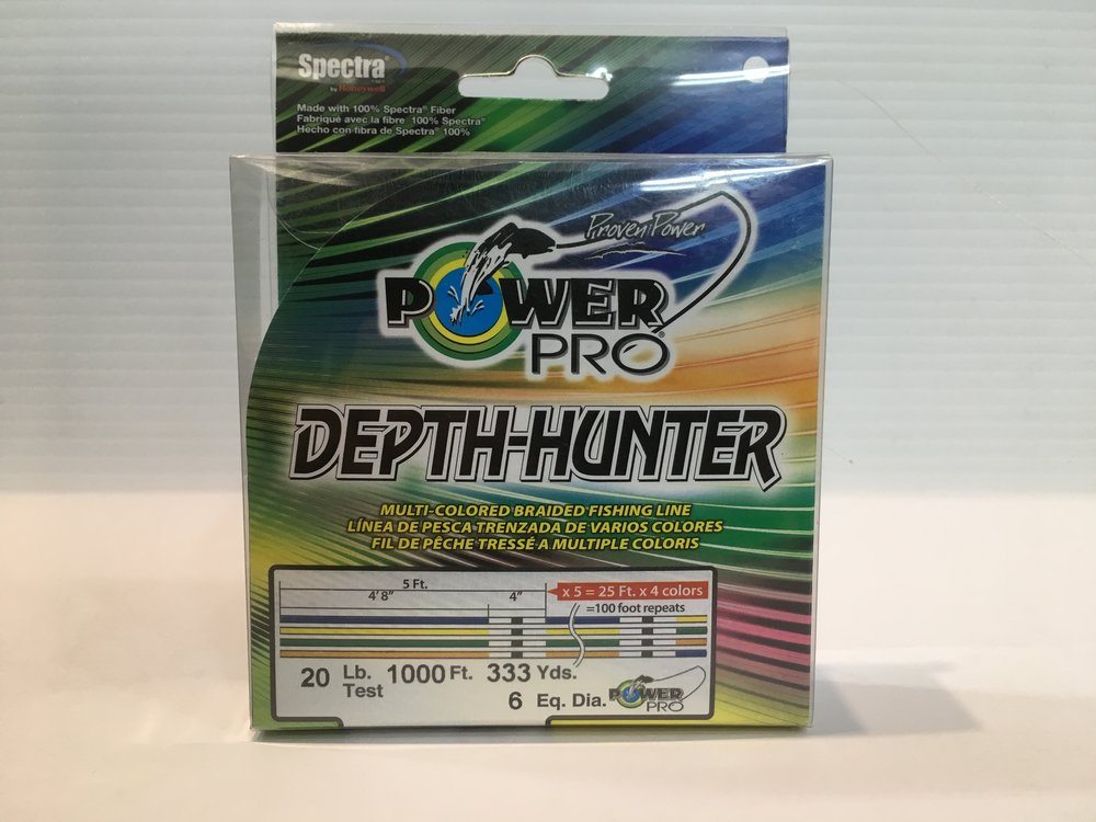 Power Pro Depth Hunter multicolor available in 20lb, 30lb, 50lb, 80lb - 333yds AND 50lb - 500yds