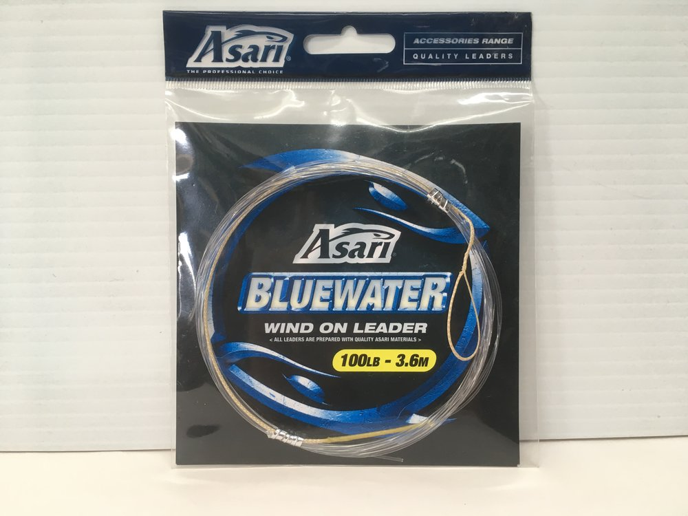 Asari Bluewater wind on leader available in 100lb - 3.6m AND 150lb - 3.6m