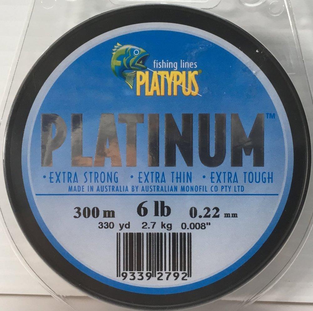 Platypus Platinum available in 6lb, 8lb, 10lb, 12lb - 300m AND 15lb, 20lb, 30lb - 500m