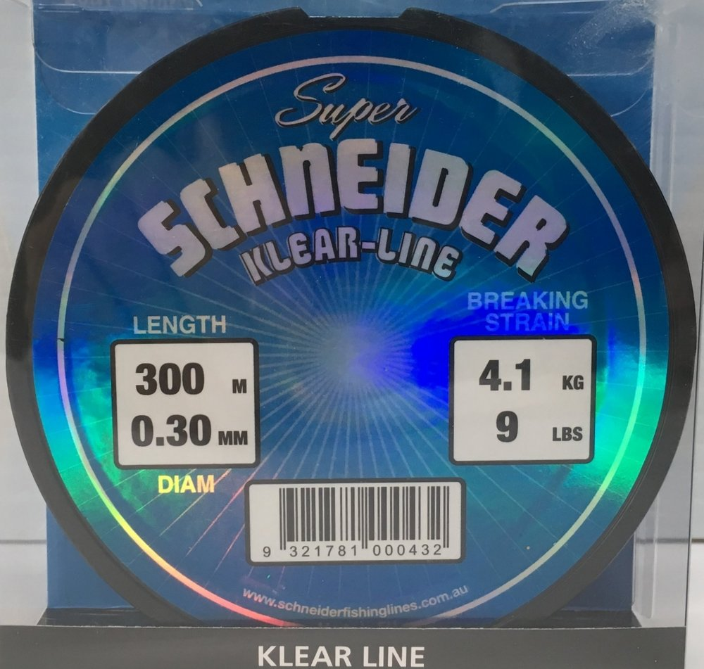 Super Schneider Kear Line available in 9lb, 12lb, 15lb, 20lb, 25lb, 30lb, 45lb - 300m AND 15lb, 20lb, 30lb - 500m