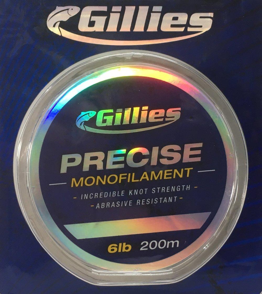 Gillies Precise available in 6lb, 10lb, 15lb - 200m