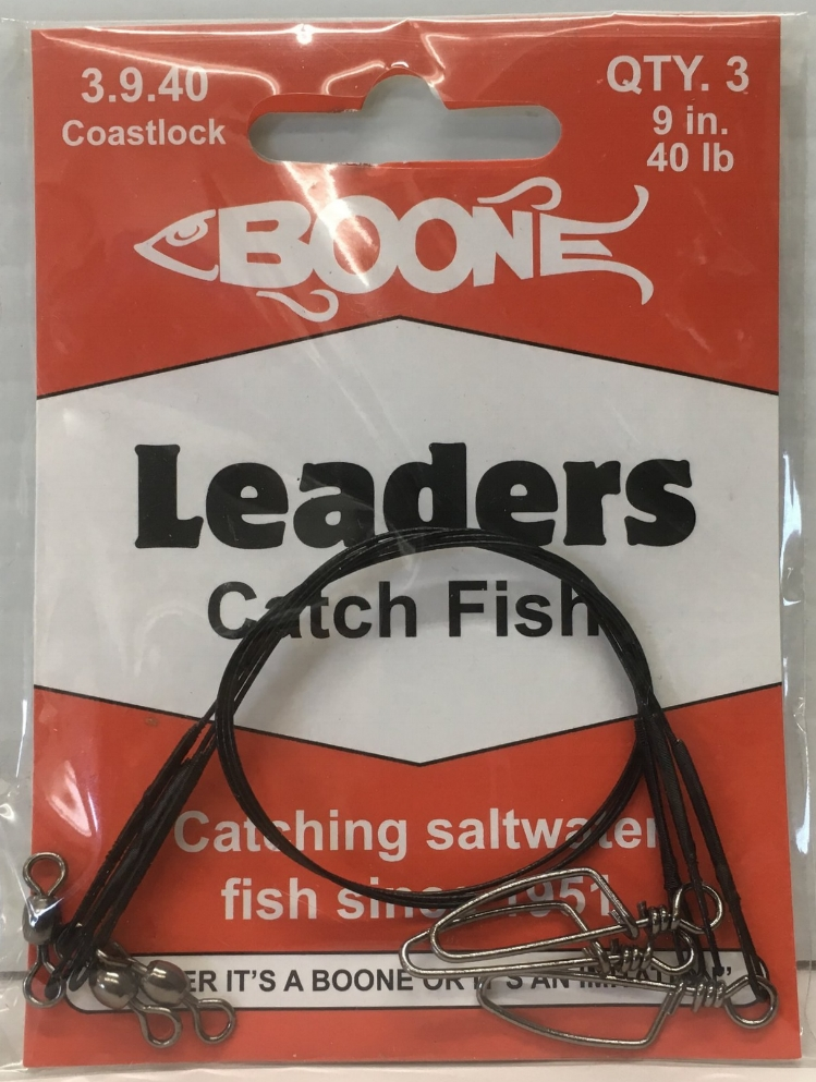 "Boone wire leader 9"" x 40lb x 3"