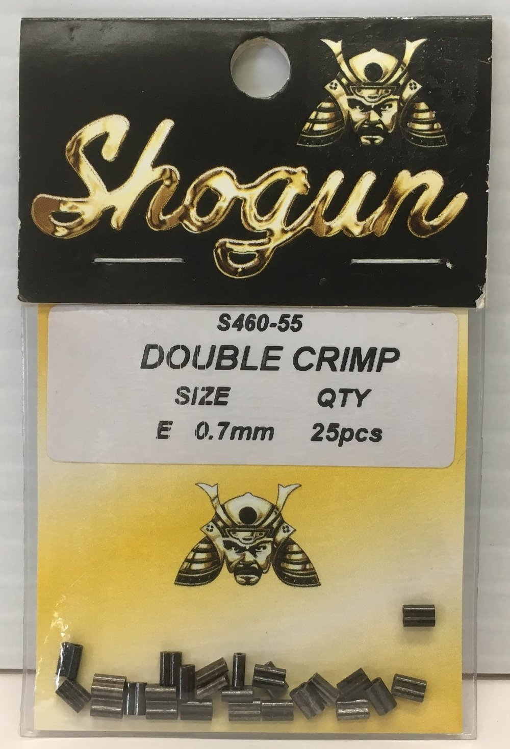 Shogun Double Crimp 0.7mm x 25pcs AND 1.3mm x 25pcs