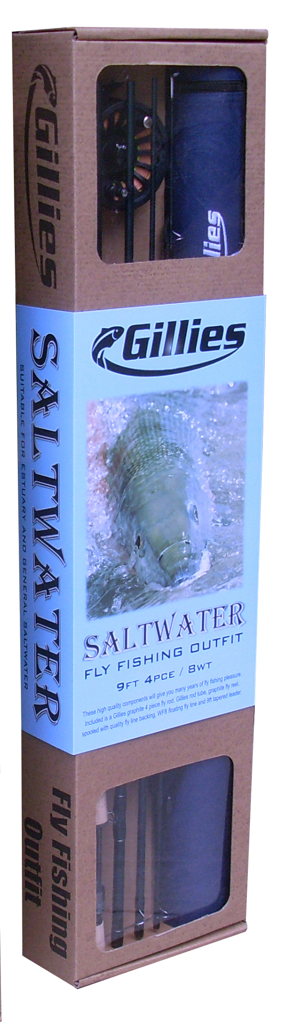 Gillies 8wt Saltwater fly outfit