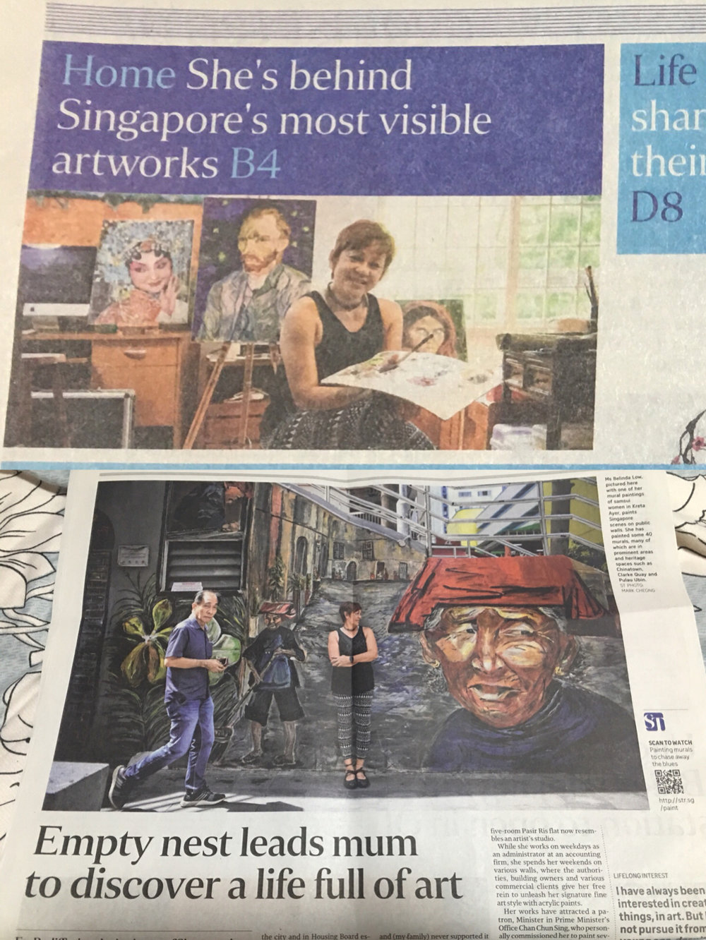 What a start to the New Year The ST article appeared on January 01 2018 in their Life page. This is beyond my imagination and I feel very blessed for what's happening in my life and art journey now.