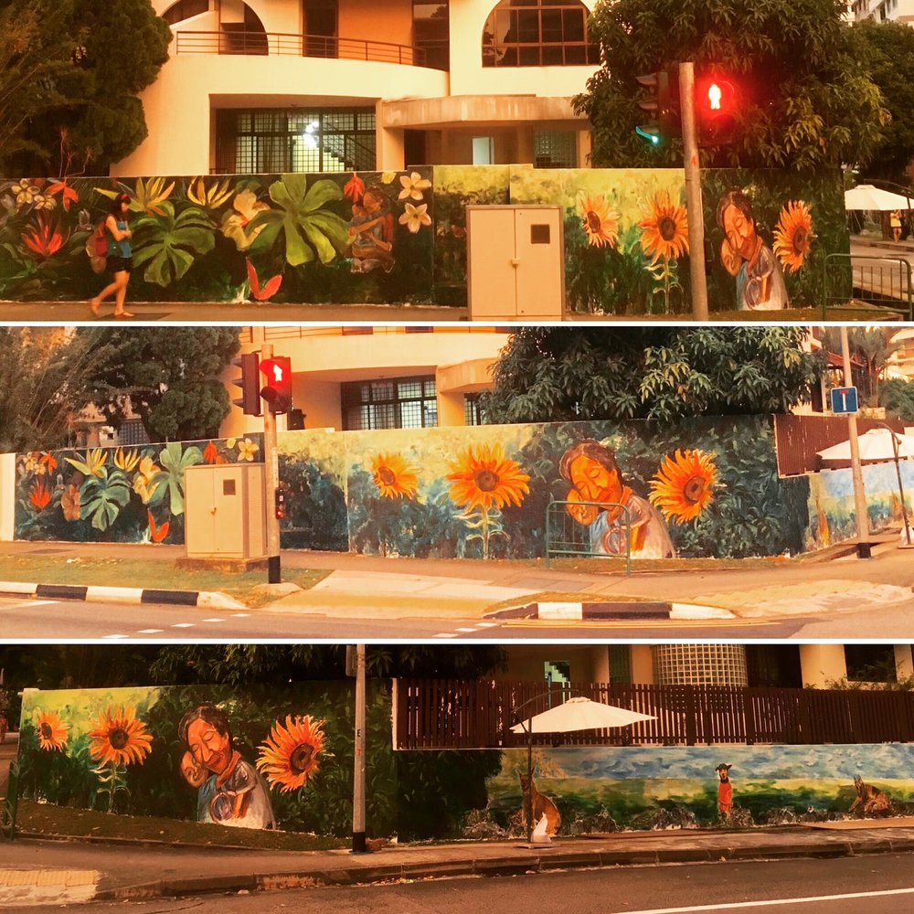 Images of the three walls taken during sunset. Photo credit - Chiou Niing.