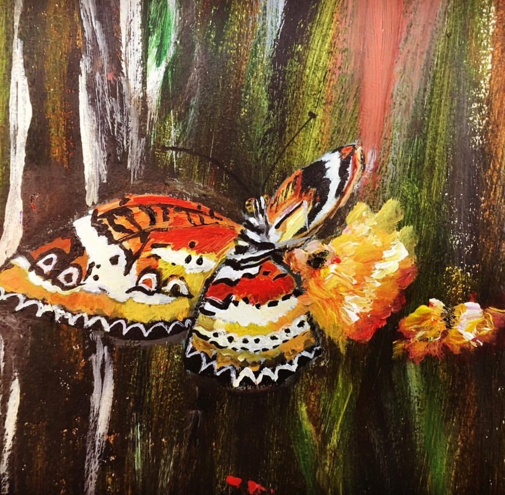 And so are butterflies which I have added like 20 of them all over...