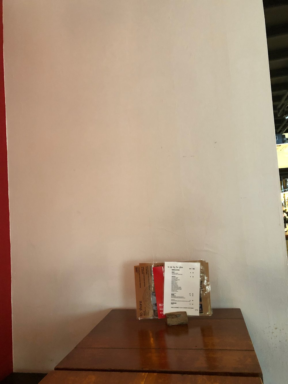 The blank first side wall…