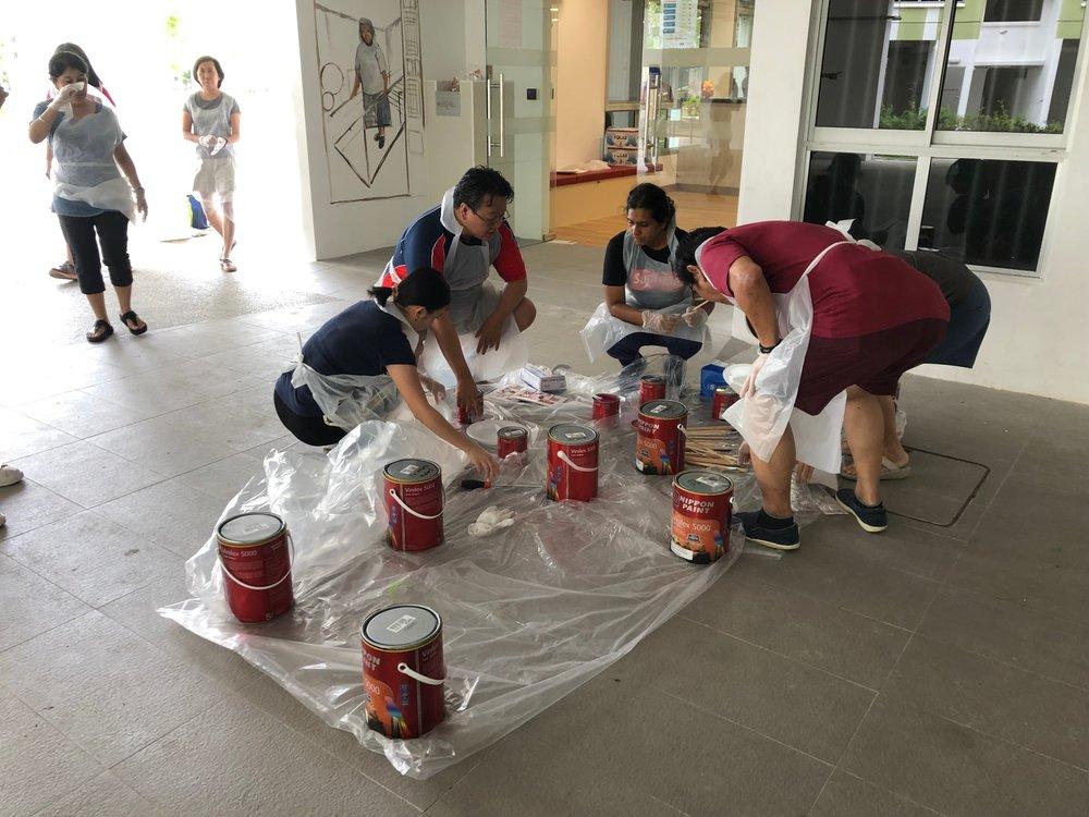 Emulsion paint courtesy of Nippon Singapore