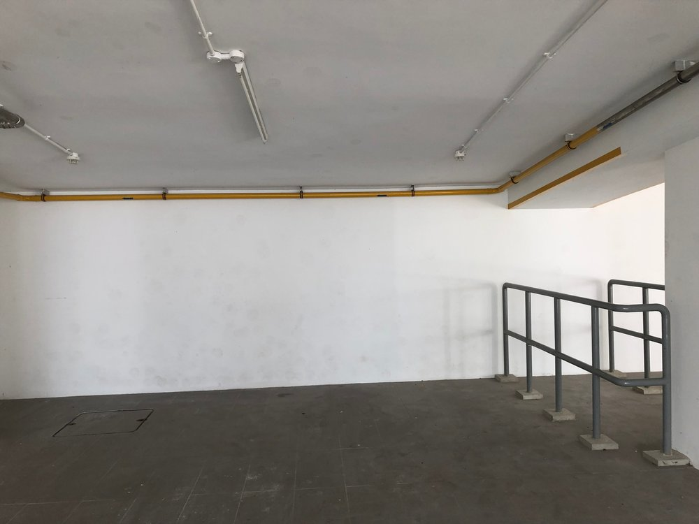 The third long wall - Before.