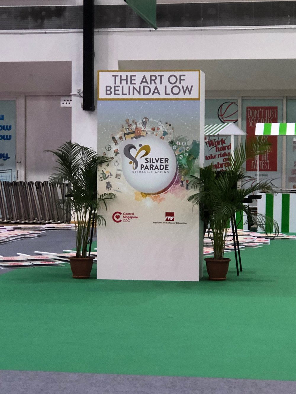 The banner at my stand