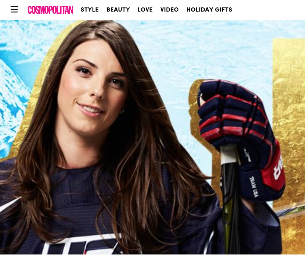 COSMOPOLITAN.COM :  14 Things to Know About, Hilary Knight, Team USA's Hockey Player and Equal Pay Activist