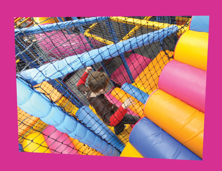 Junior area (5-12 yrs)   For the older children, this 3 storey play frame has lots to keep them entertained. It featues a 4 lane astra slide, a maze, trampoline, spiral slide and much, much more...