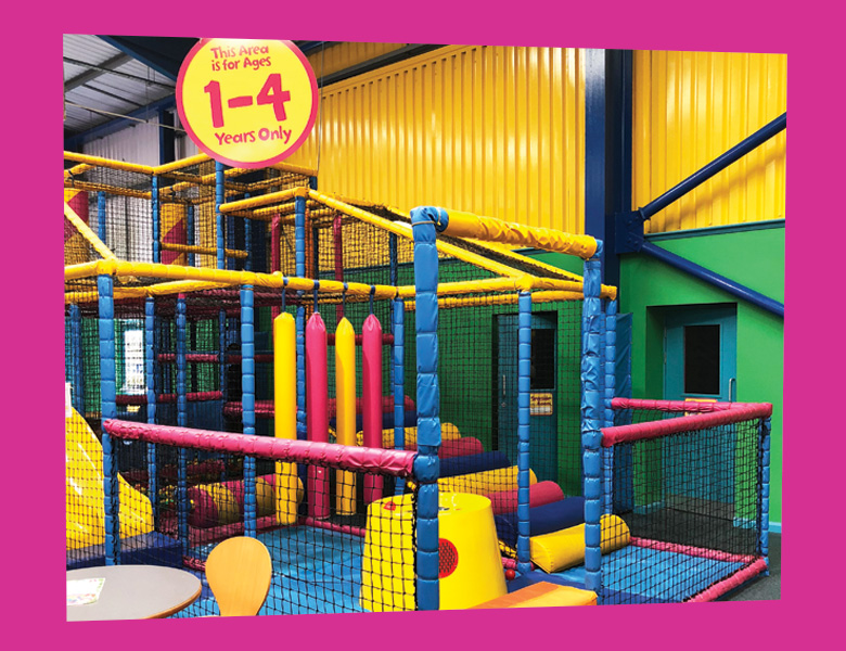 Toddler area (1-4 yrs )  An enclosed play area specially designed for younger children. The area includes a 2 lane mini astra slide, climbing ramps, floating balls and a ball pool.