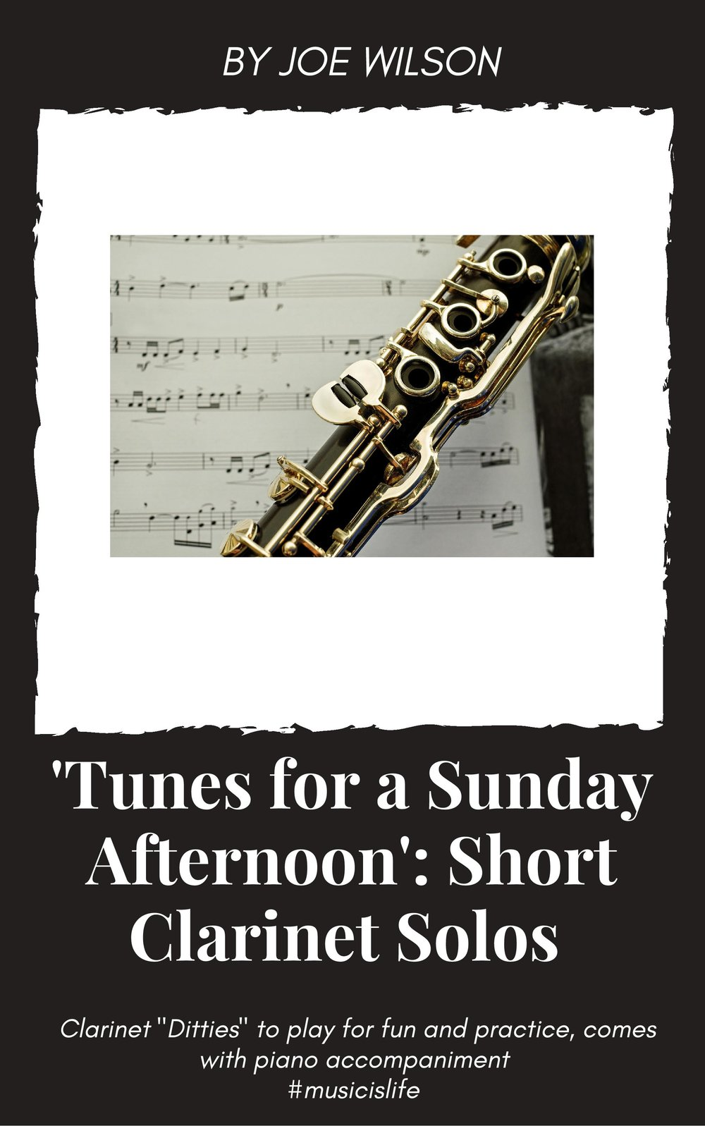 """Front Cover of the Online PDF Sheet Music Booklet - """"Tunes for a Sunday Afternoon""""."""