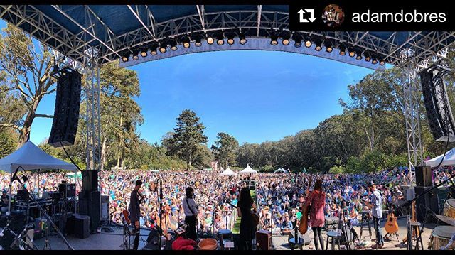 Overwhelmed and so grateful after an incredible day at #hardlystrictlybluegrass with 20-30 thousand listening friends... This show capped a short run with @thewailinjennys, such fab singers/songwriters/musicians, wonderful people, new friends - they killed it. Also so amaze: the stage and tech crew who were warm, open, and kind - it was such a meaningful gift; I have a deep belief that it's possible to strive for great great work while still being kind and treating others well. We spent the rest of the day inspired listening to artists we love, in the most beautiful setting. Overwhelmed and so grateful.