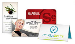 Business Cards, in many styles and shapes