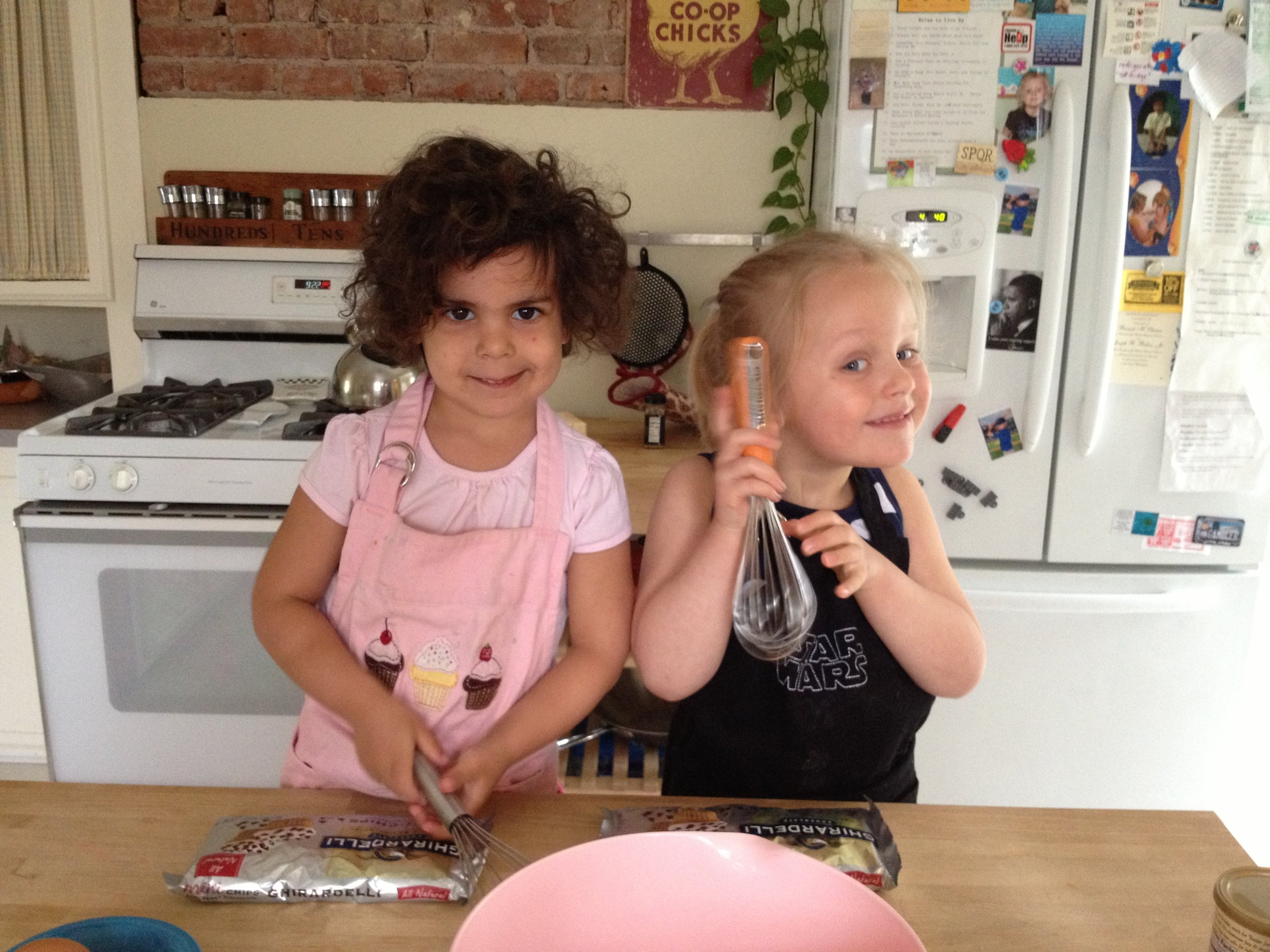 Baking Playdate  (my daughter is pictured RT)