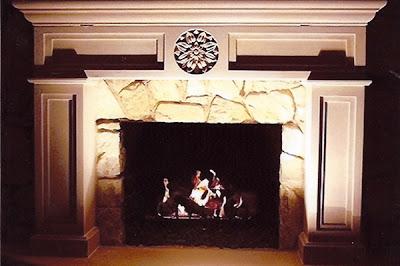 Fireplace, Indiana Limestone, 8' x 4' x 1', 2002