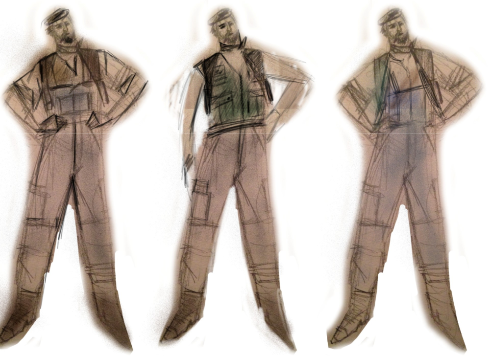 Early costume design sketches